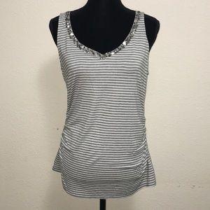 New WHBM Grey Striped Size L